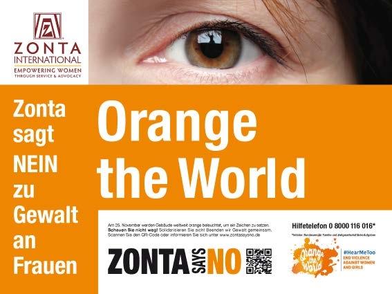 ZONTA sagt NEIN! – Leuchtzeichen gegen Gewalt an Frauen!